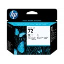 Cap Imprimare HP 72 (C9380A) ORIGINAL, Gri/Negru Foto