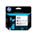 Cap Imprimare HP 771 (CE017A) ORIGINAL, Negru mat/Rosu cromatic