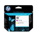 Cap Imprimare HP 91 (C9461A) ORIGINAL, Magenta/Galben
