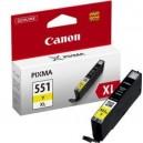 Cartus Canon CLI-551Y XL yellow ORIGINAL, capacitate mare, cip inclus