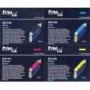 Set 4 cartuse  PrintLab® compatibile Epson T0711/14, capacitate dubla