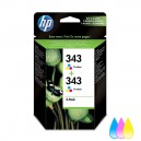 Pachet 2 Cartuse HP 343 (CB332EE) ORIGINALE, Color