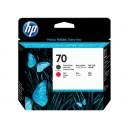 Cap Imprimare HP 70 (C9409A) ORIGINAL, Negru mat/Rosu